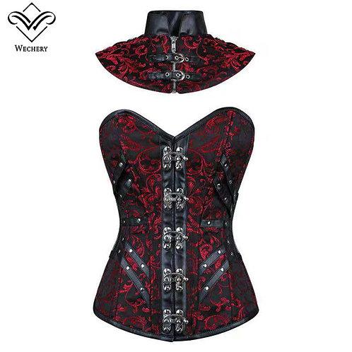 Wechery Steampunk Corset Top Corselet Gothic Women's Gothic Clothin