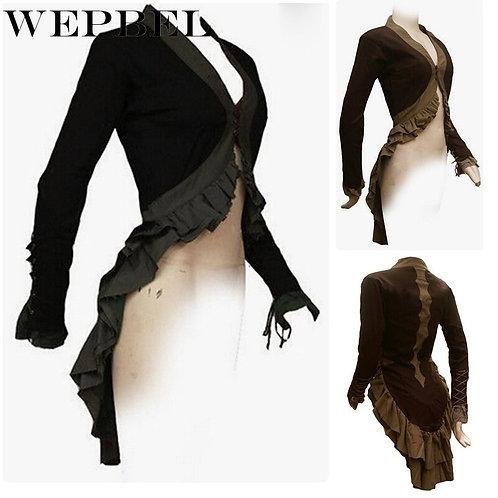 Steampunk Women Gothic Victorian Suit Tailcoat Jacket Vintage Bolero Jacket
