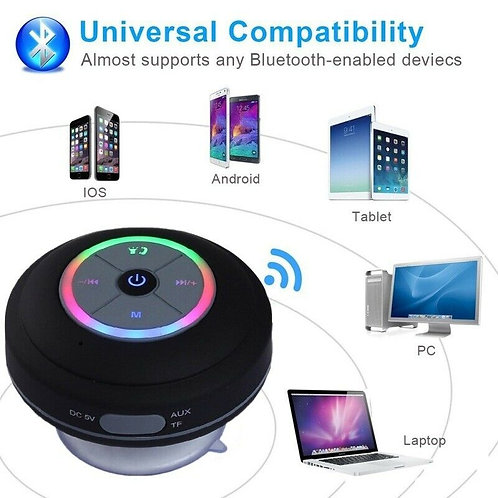 Portable Cool Shower Speaker Wireless Bluetooth Speaker Waterproof Bluetooth