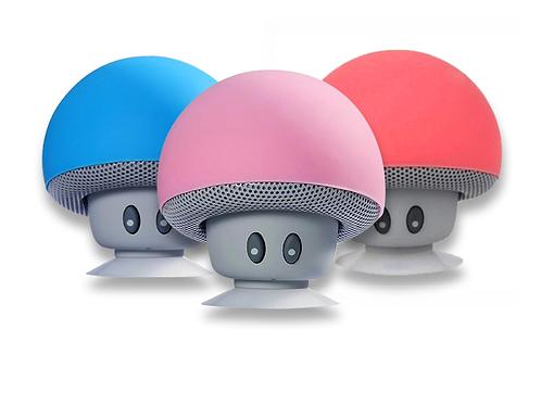 Silicone Suction Cup Mushroom Audio Speaker Waterproof Wireless Mini Speaker