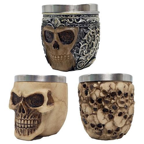 1Pcs 3D Knight Warrior Skull Mug Gothic Style Halloween Decoration Skeleton Cup