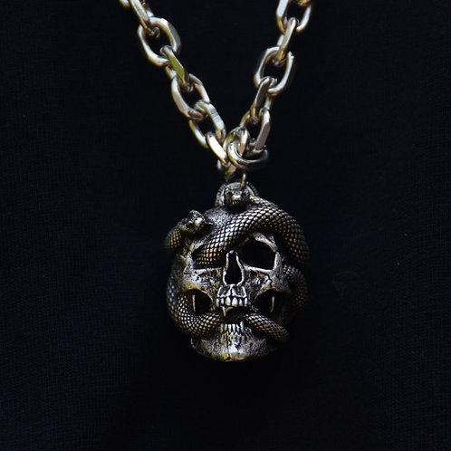 Medusa Snake Skull Pendant Wicca Gothic Necklace Punk Jewelry