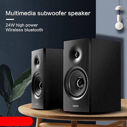 12W*2 Bluetooth 5.0 Speaker R1080BT Multimedia Wooden Speaker Small Speaker
