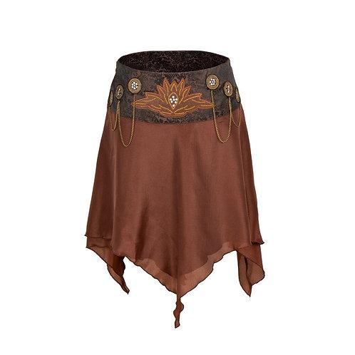 Women Gothic Steampunk Asymmetrica Pirate Corset Skirt