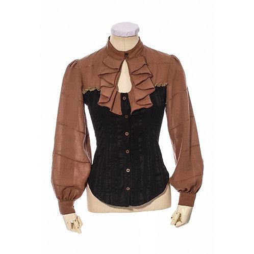 New Steampunk Long Sleeve Woman Shirt Ruffles England Style Gothic Lad
