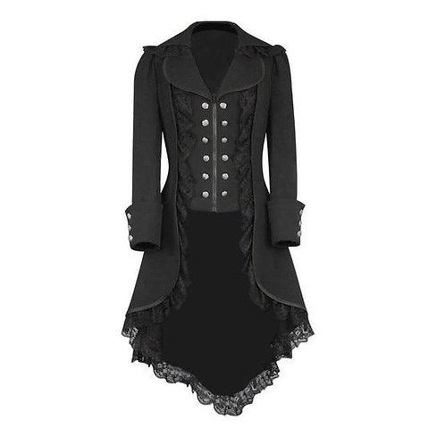 Gothic Coat Blazer Steampunk Tuxedo Black Gothic Victorian Ladies Coat