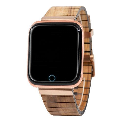 2020 New Wrist Smart Watch Multi Function Wooden Band Unique Smart Watch