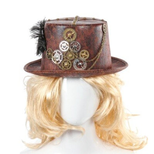 Retro Gothic Steampunk Crow Hat Plays Carnival Festival Gear Feather Nonwoven