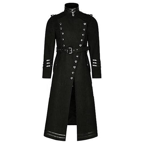 Cosplaydiy Plague Doctor Vintage Punk Gothic Mens Jacket Coat Steampunk