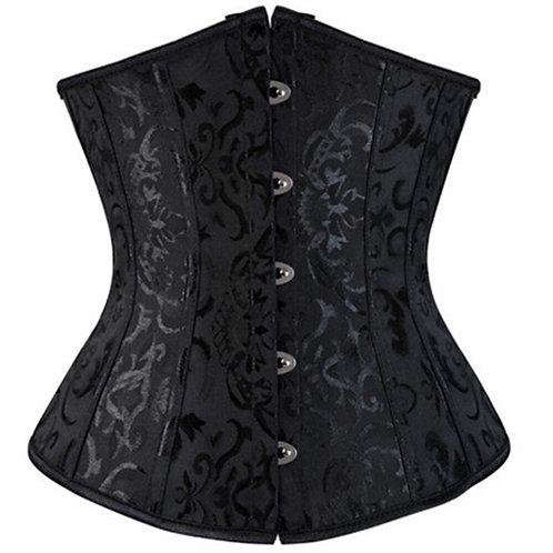 Sexy Satin Jacquard Floral Underwear Corsets S-6xl Women Gothic Bustier Corselet