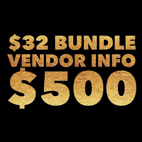 $32 BUNDLE VENDOR INFO