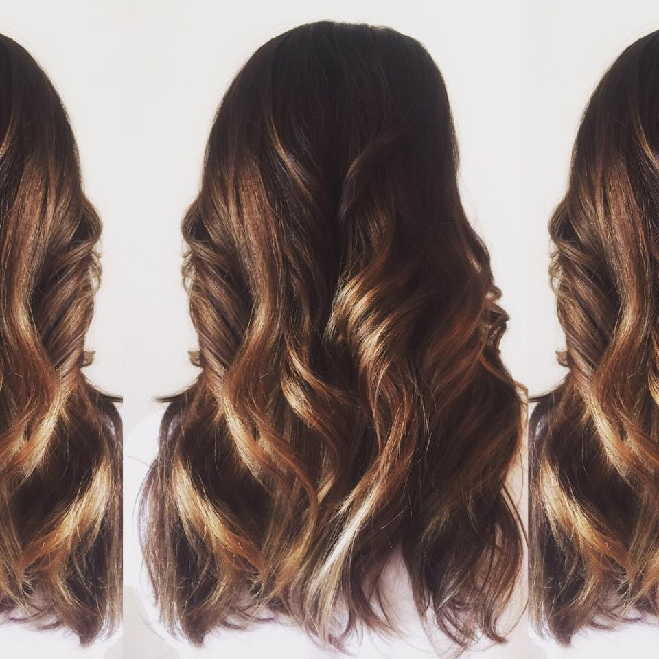 Balayaged Ombre & Cut