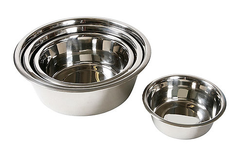 Stainless steel bowls 1,80 l