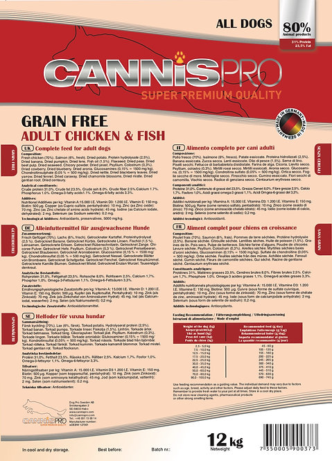 Adult Grain Free - Chicken & Fish 12kg