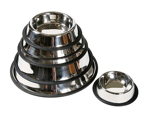 Anti-slip stainless steel bowls 1,80 l
