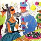 Mardi Gras Fun from Seagram's, 1950's