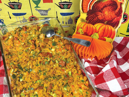 Creole Crawfish 'n Cornbread Dressing