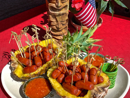 Cocktail Franks with Luau King Sweet 'n Sour Sauce