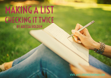 Making a List---Checking It Twice