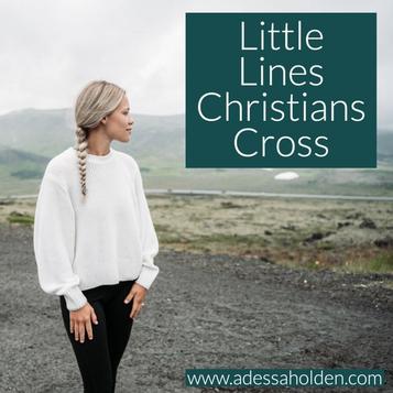 Little Lines Christians Cross
