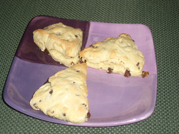 A Special Treat:  Homemade Chocolate Chip Scones and Hot Chocolate