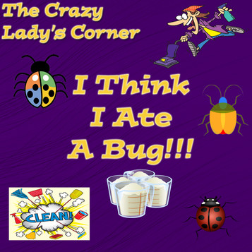 I Think I Ate a Bug:  from The Crazy Lady's Corner