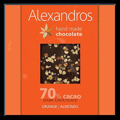 Σοκολάτα υγείας πορτοκάλι | αμύγδαλα
