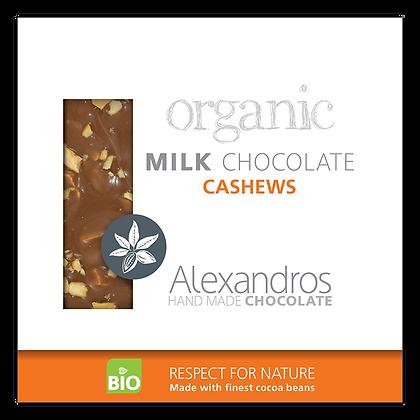 Βιολογική σοκολάτα γάλακτος με κάσιους