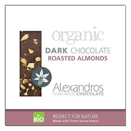 Organic dark chocolate roasted almonds