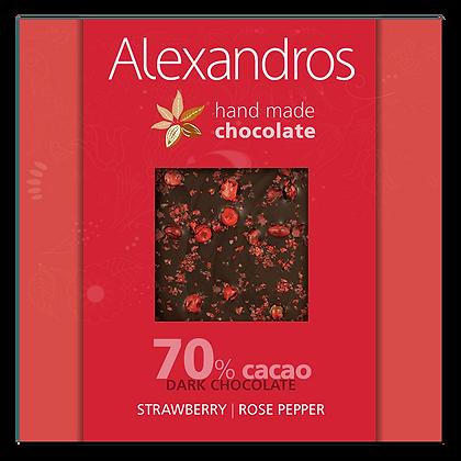 Σοκολάτα υγείας ροζ πιπέρι | φράουλα