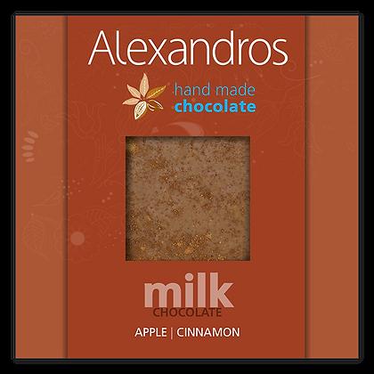 Σοκολάτα γάλακτος μήλο | κανέλα
