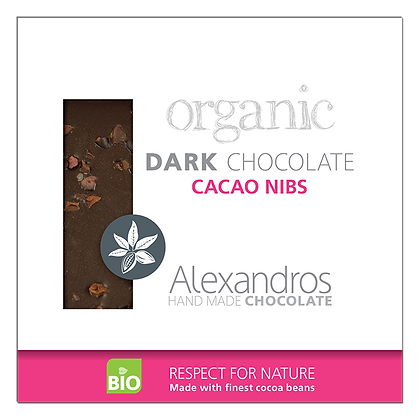 Organic dark chocolate cacao nibs