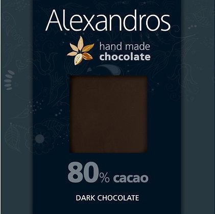 Σοκολάτα υγείας 80% κακάο