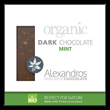 Organic dark chocolate mint
