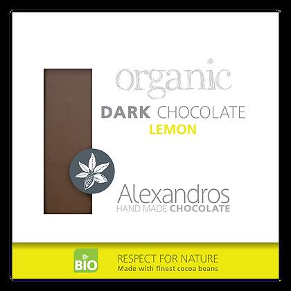 Organic dark chocolate lemon