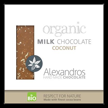 Βιολογική σοκολάτα γάλακτος με καρύδα
