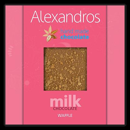 Milk chocolate waffle