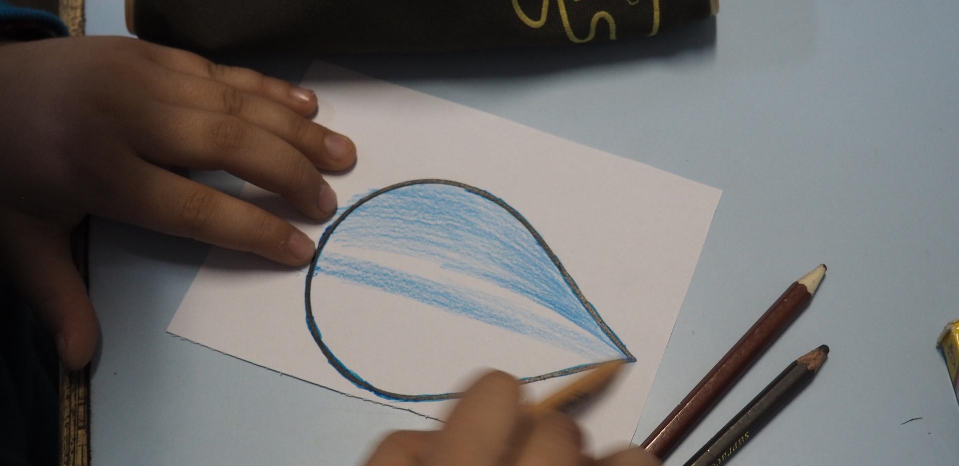 Arte com gotas de água