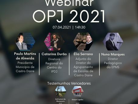 WEBINAR ORÇAMENTO PARTICIPATIVO JOVEM 2021