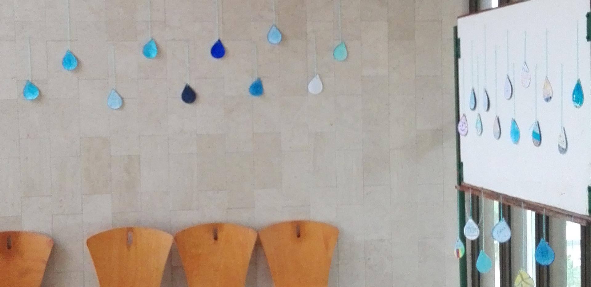 Exposição das gotas de água nas Termas do Carvalhal