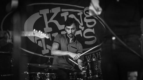 Glasgow band Sara N Junbug King Tuts gig live drummer drums