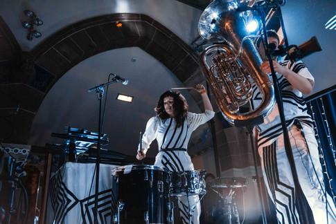 Anna Meredith live in Glasgow Oran Mor drums