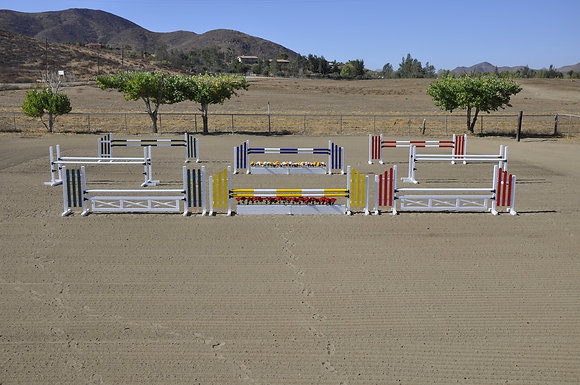 12' Complete Aluminum Hunter or Jumper Course (6 jumps / 2 oxers)