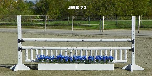 JWB-72 Birch rails, flowers, picket gate, rail and schools