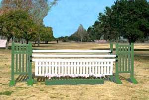 10' White Poly Picket Gate