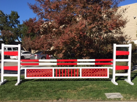 10' Aluminum gate with picket center
