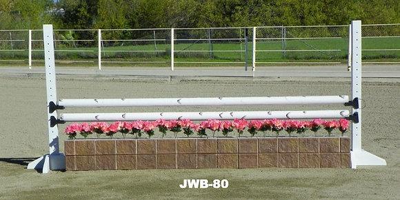 JWB-80 Birch rails, flower boxes, flowers, schools