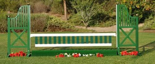 12' Green/White Wood Picket Gate