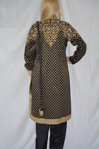 Rohit Bal collection Black and gold brocade with embroidery chudidar set