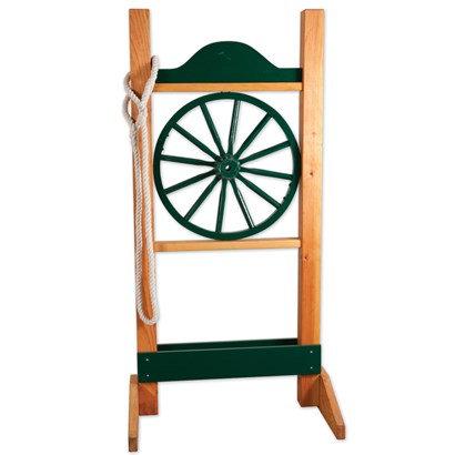 Wagon Wheel Rope Gate
